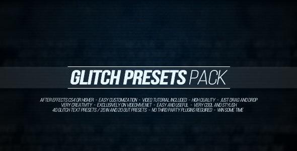 Glitch Presets Pack