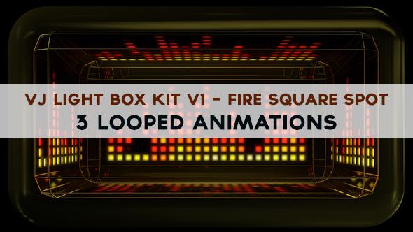 Vj Light Box Kit V1 - Circular Patern Square Spot Pack - 6