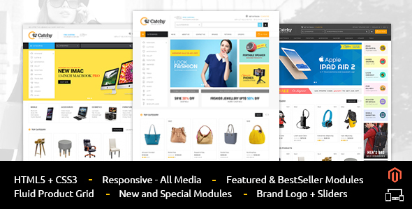 01 Themepreview.  large preview - Catchy - Multipurpose Magento Theme