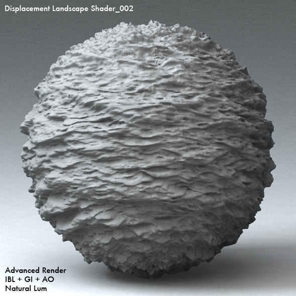 Displacement Landscape Shader_002 - 3DOcean Item for Sale