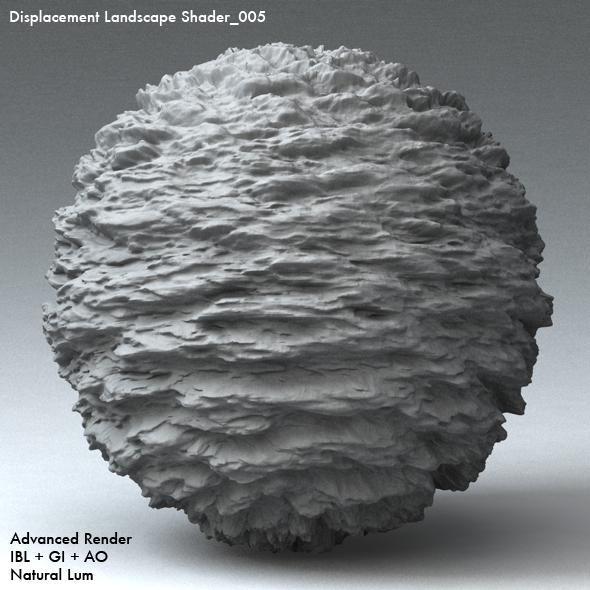 Displacement Landscape Shader_005 - 3DOcean Item for Sale
