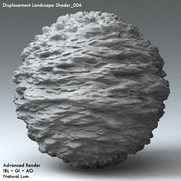 Displacement Landscape Shader_006 - 3DOcean Item for Sale