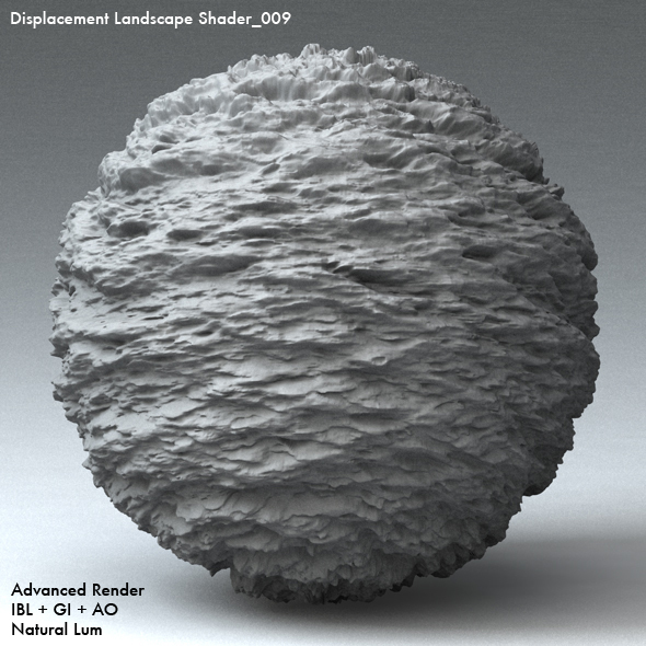 Displacement Landscape Shader_009 - 3DOcean Item for Sale