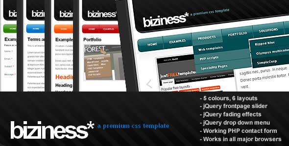 Biziness 2.0 - jQuery, HTML business template