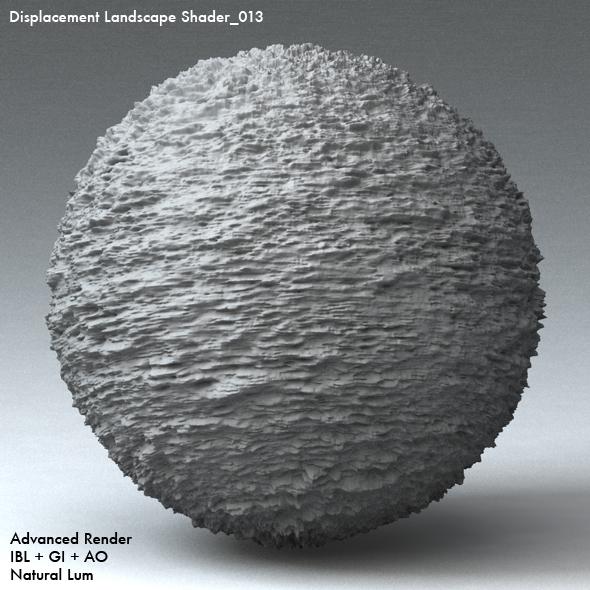 Displacement Landscape Shader_013 - 3DOcean Item for Sale