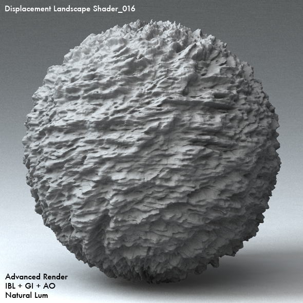 Displacement Landscape Shader_016 - 3DOcean Item for Sale