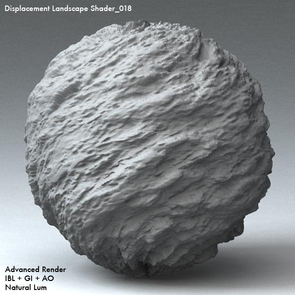 Displacement Landscape Shader_018 - 3DOcean Item for Sale