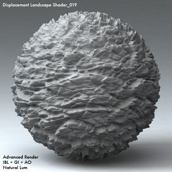 Displacement Landscape Shader_019 - 3DOcean Item for Sale