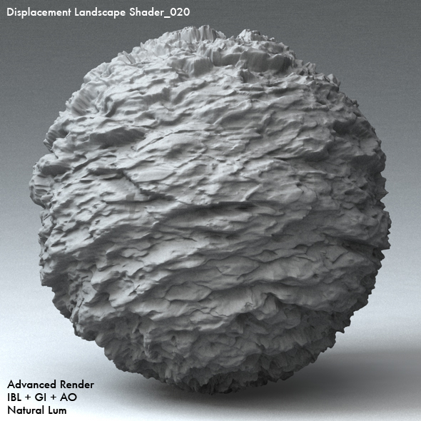 Displacement Landscape Shader_020 - 3DOcean Item for Sale