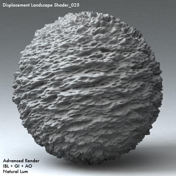 Displacement Landscape Shader_025 - 3DOcean Item for Sale