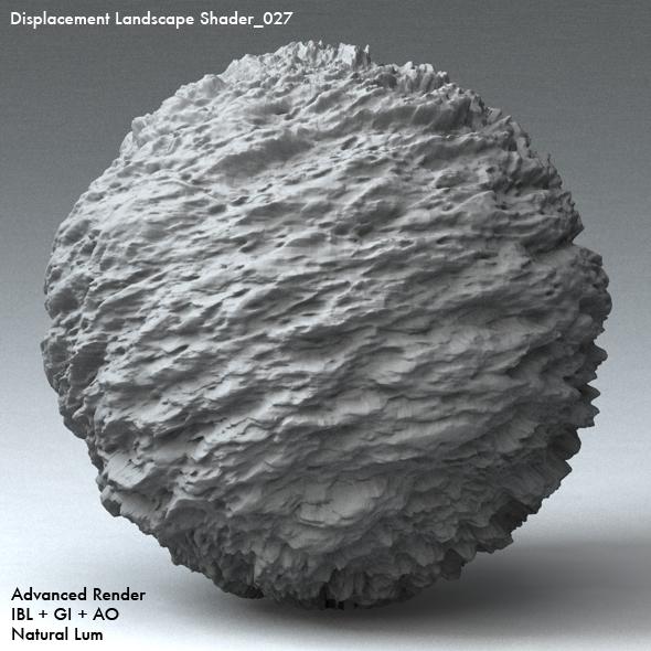 Displacement Landscape Shader_027 - 3DOcean Item for Sale