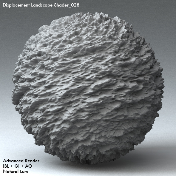 Displacement Landscape Shader_028 - 3DOcean Item for Sale