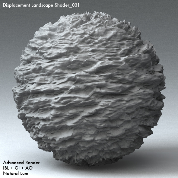 Displacement Landscape Shader_030 - 3DOcean Item for Sale