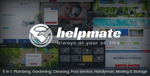 Helpmate – 6 in 1 Maintenance HTML Template (Business) Download