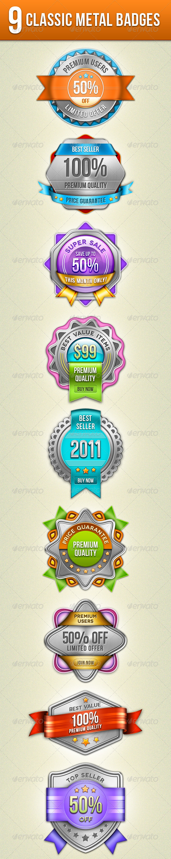 GraphicRiver Classic Metal Badges 1130469