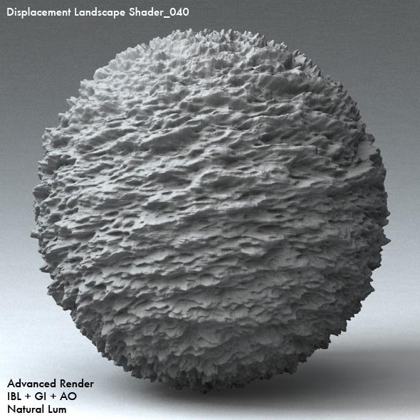 Displacement Landscape Shader_040 - 3DOcean Item for Sale