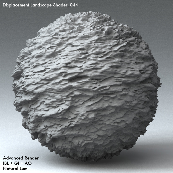 Displacement Landscape Shader_044 - 3DOcean Item for Sale
