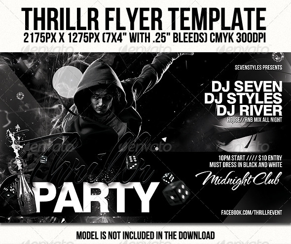 Thrillr Flyer Template