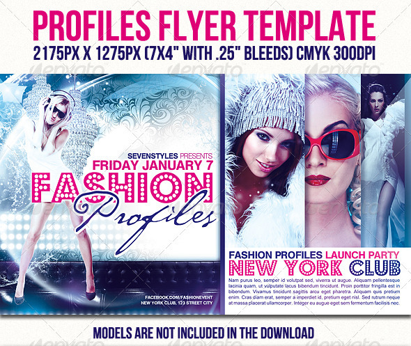 Profiles Flyer Template - Clubs & Parties Events