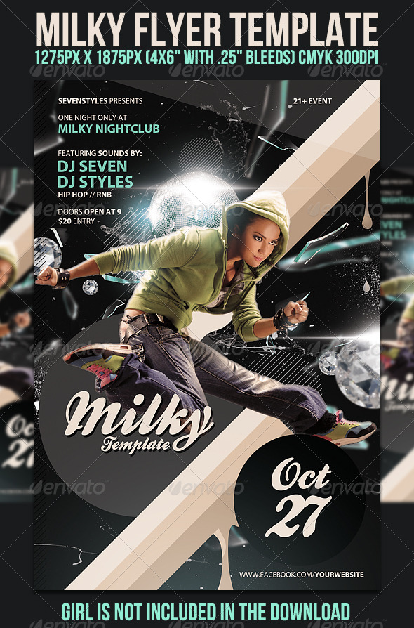 Milky Flyer Template - Clubs & Parties Events