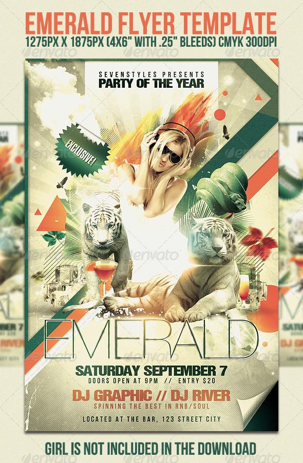 GraphicRiver Emerald Flyer Template 461156