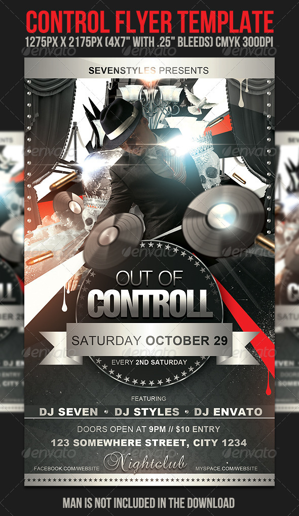 Control Flyer Template - Clubs & Parties Events