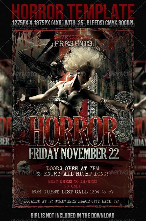GraphicRiver Horror Flyer Template 474730