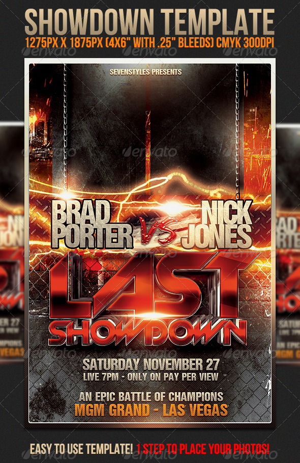 Showdown Flyer Template - Sports Events