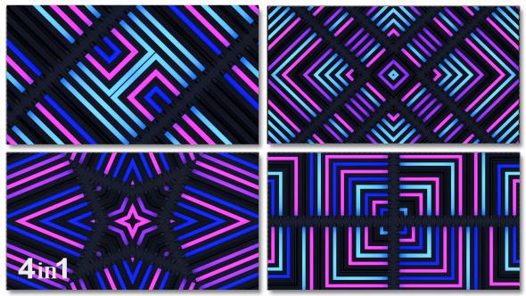 VideoHive Light Colorful Flashing Kaleidoscope 4-Pack 14595582