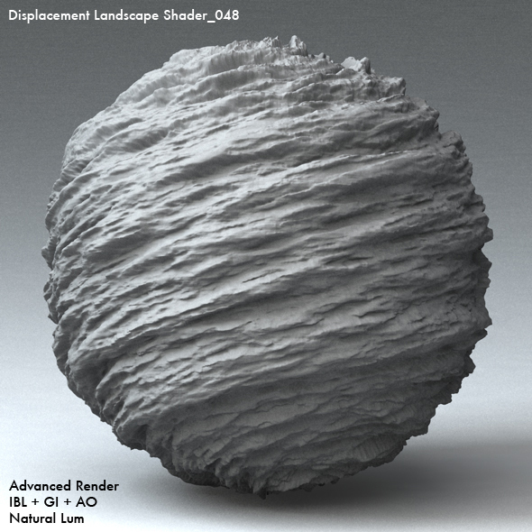 Displacement Landscape Shader_048 - 3DOcean Item for Sale