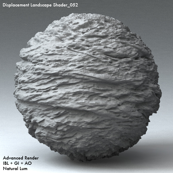 Displacement Landscape Shader_052 - 3DOcean Item for Sale