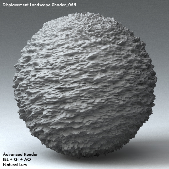 Displacement Landscape Shader_055 - 3DOcean Item for Sale
