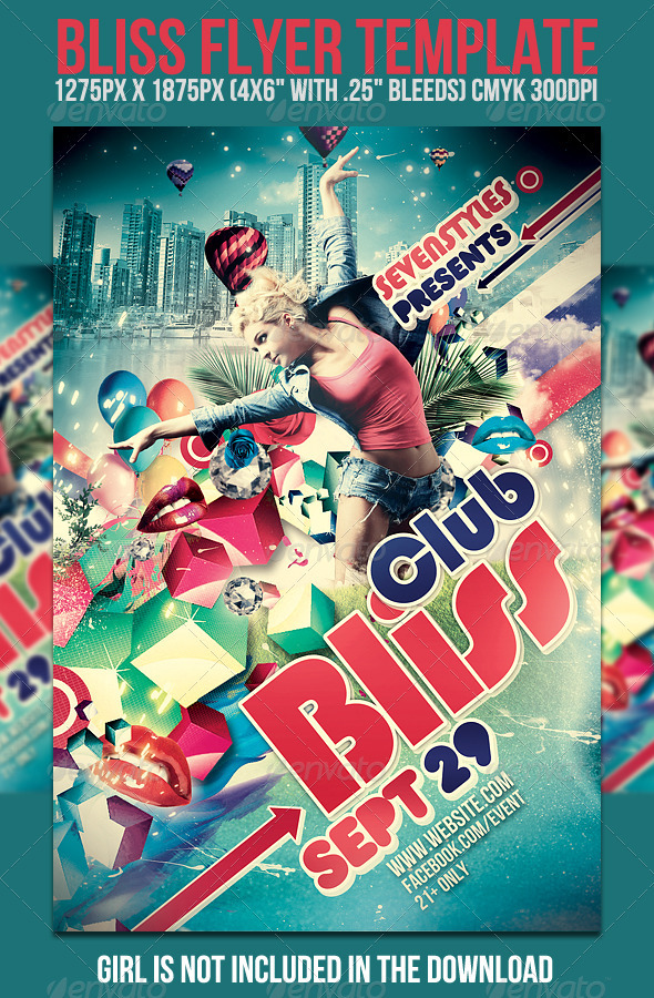 Bliss Flyer Template - Clubs & Parties Events