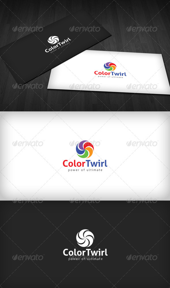 Color Twirl Logo - Vector Abstract
