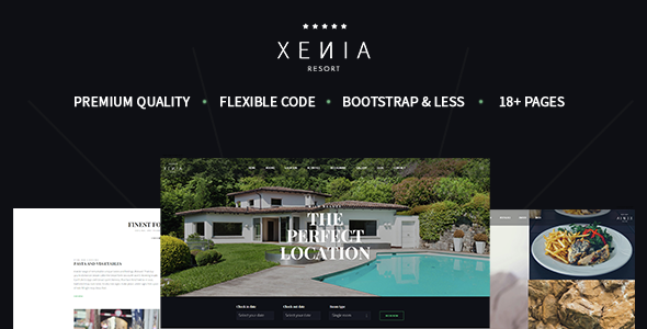 HOTEL XENIA – Hotel & Resort Bootstrap Template (Miscellaneous) Download
