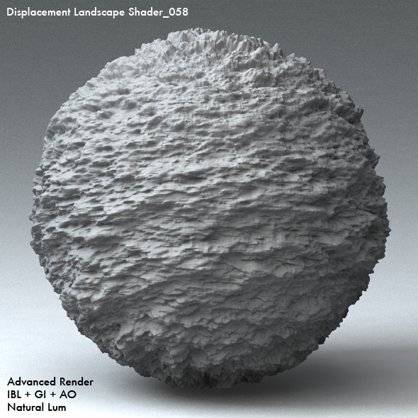 Displacement Landscape Shader_058 - 3DOcean Item for Sale