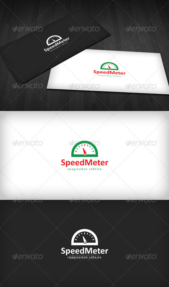 Speed Meter Logo - Vector Abstract