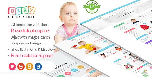 Baby Store-PrestaShop theme