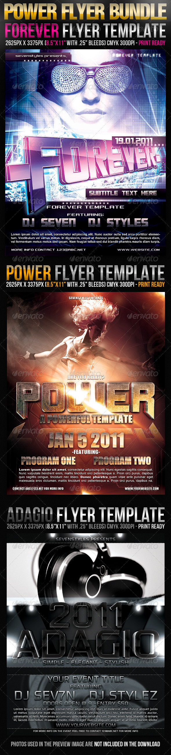 GraphicRiver Power Flyer Bundle 224512