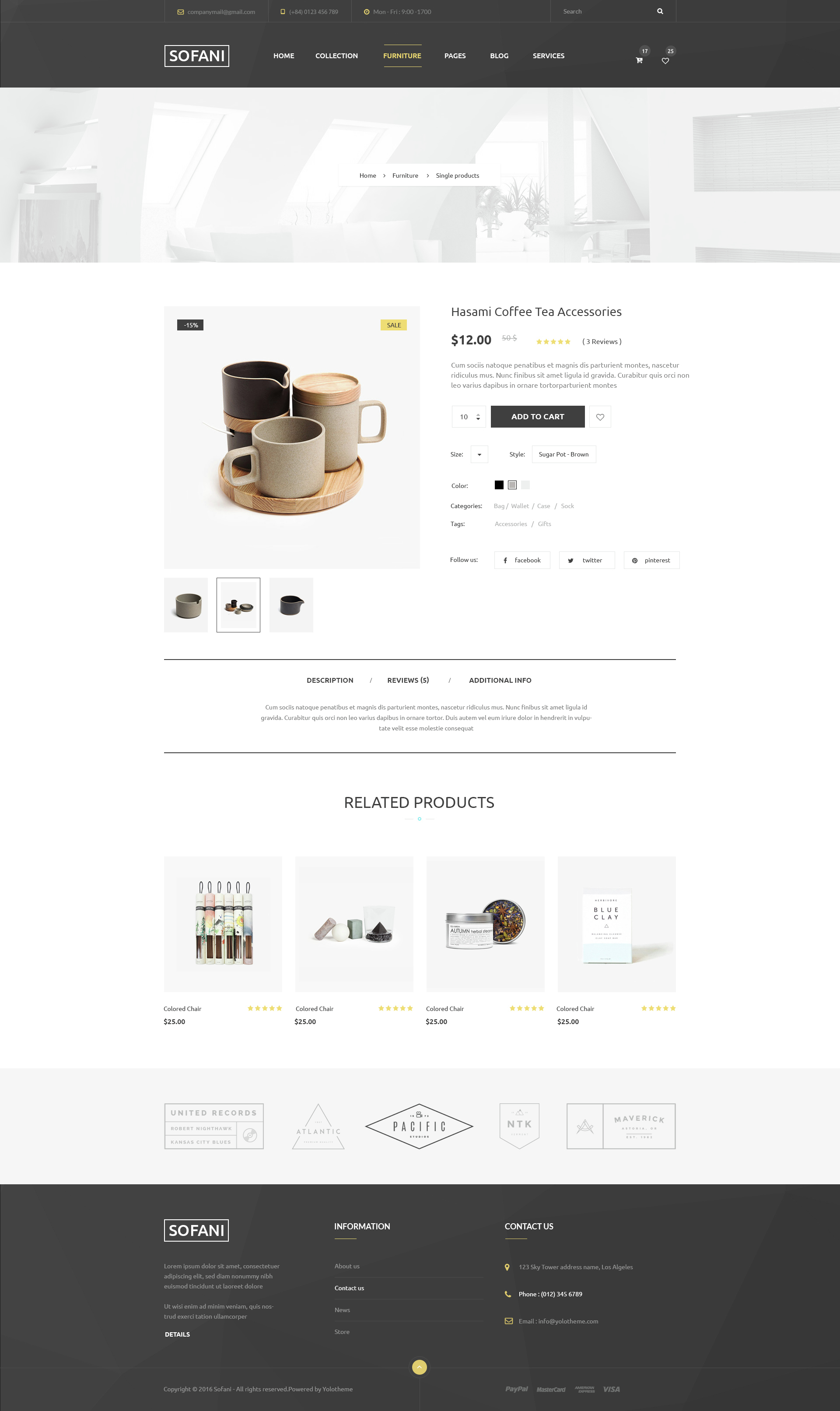 Sofani Furniture Store PSD Template by YoloPSD – Product Description Template