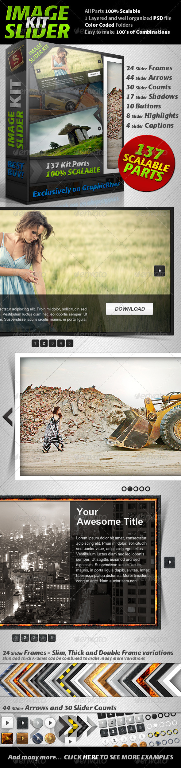 Image Slider Kit - Sliders & Features Web Elements