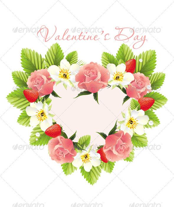 Flower heart shape GraphicRiver - Vectors - Conceptual Seasons ...