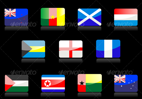 GraphicRiver Glossy national flags 57733