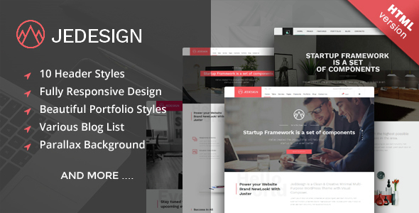 Jedesign - Multi-Purpose HTML Template