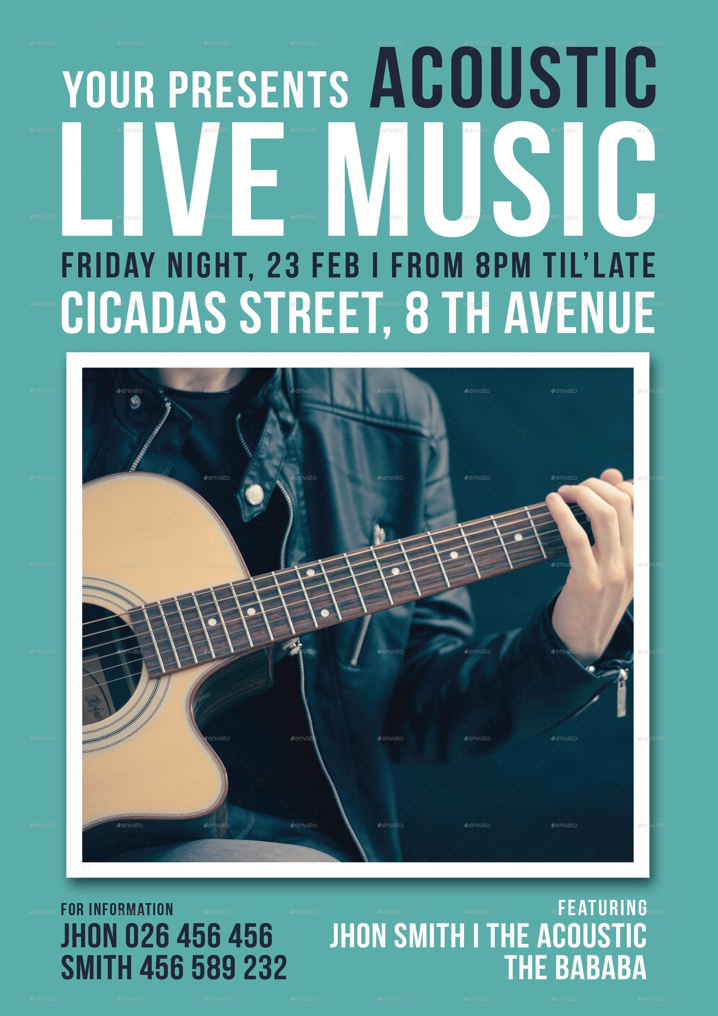 Acoustic Live Music Flyer by lilynthesweetpea – Music Flyer