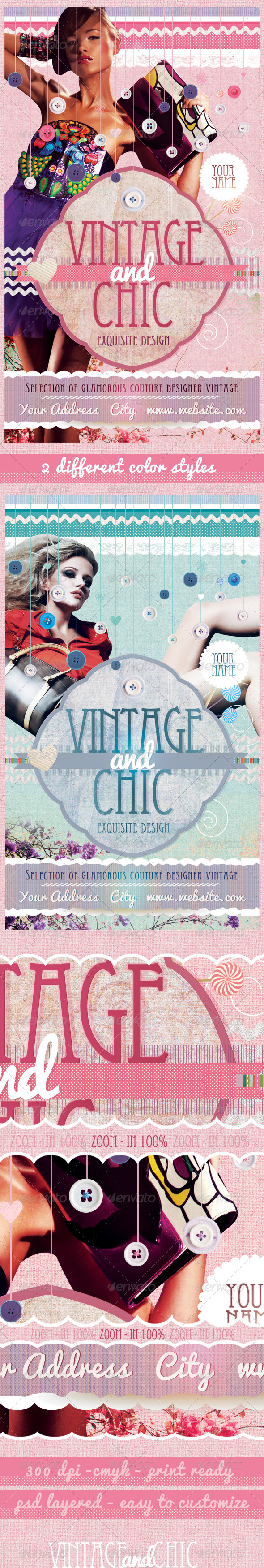 Vintage and Chic Flyer Template - Commerce Flyers