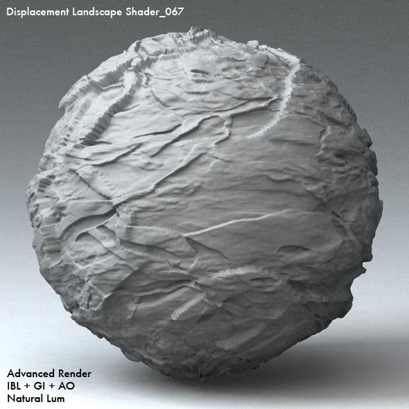 Displacement Landscape Shader_067 - 3DOcean Item for Sale