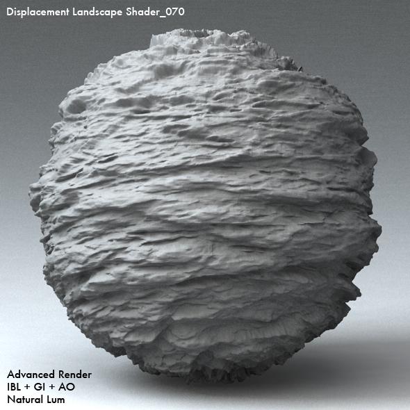 Displacement Landscape Shader_070 - 3DOcean Item for Sale
