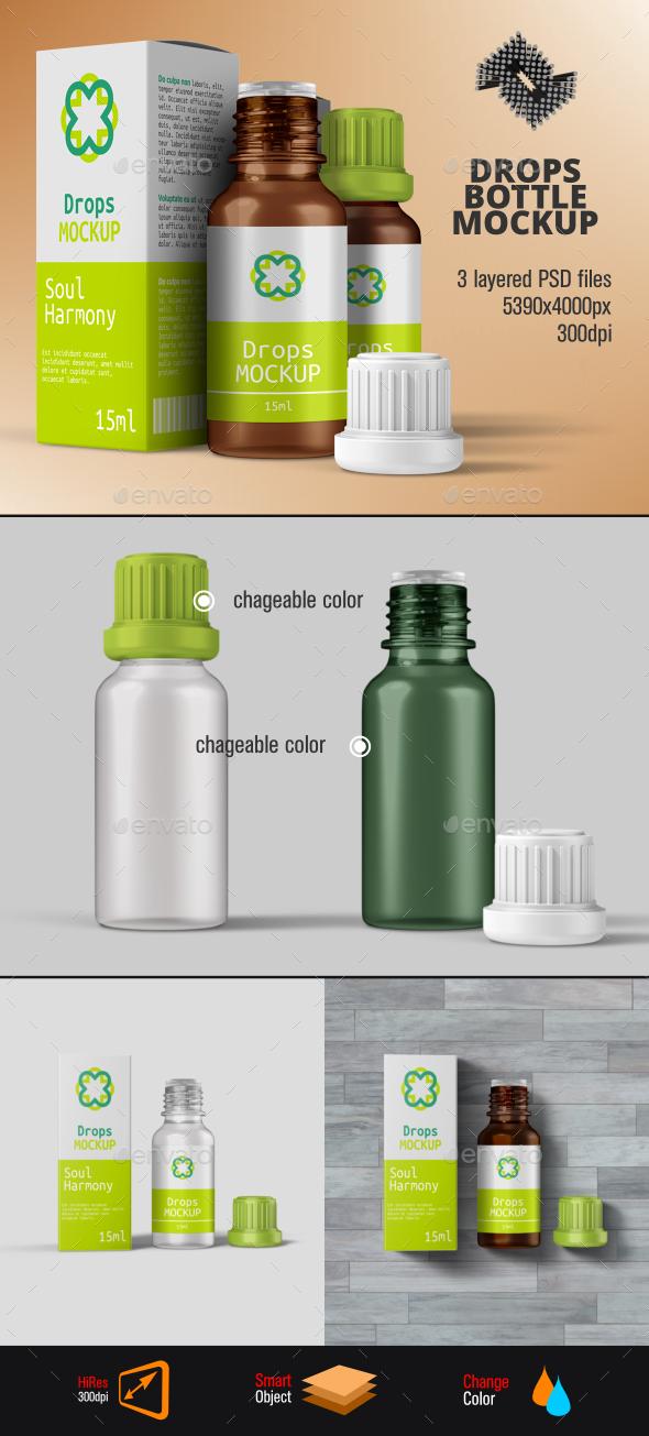Herbal Drops Bottle u0026 Box Mockup