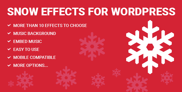 Download Snow Effects for WordPress nulled download